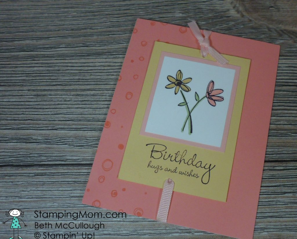 My Homemade Birthday Cards Stamping Mom
