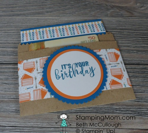 Balloon Adventures Gift Card Holder Stamping Mom