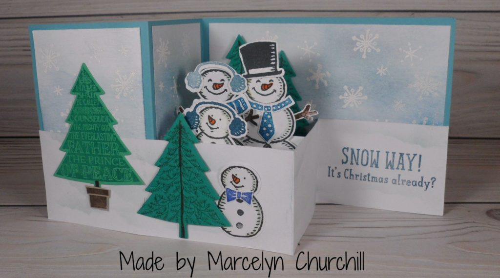 double z fold pop up card made by marcelyn churchill please see more card and - Folded Christmas Cards