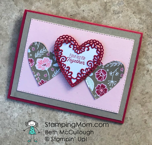 Meant To Be Valentine Stamping Mom